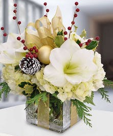 White Christmas Floral Design Trumbull & Shleton (CT) City Line