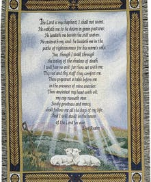 23rd Psalm Woven Throw