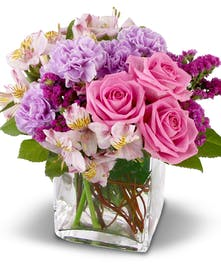 A glamorous bouquet of fresh flowers