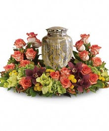 Sunset Wreath Cremation Urn Design