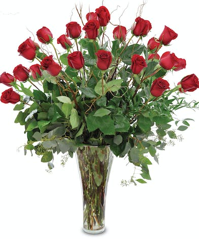 Premium Red Roses - Arranged in a Vase - Trumbull, CT Florist