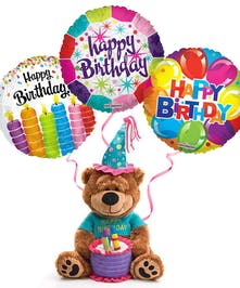 Plush Birthday Bear & Balloons Trumbull (CT)
