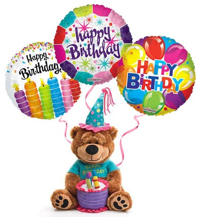 Plush Birthday Bear & Balloons Trumbull (CT)