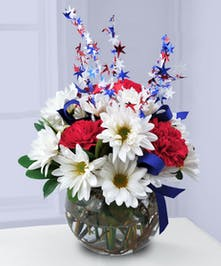A patriotic arrangement