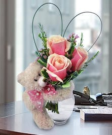 Teddy Bear & Roses