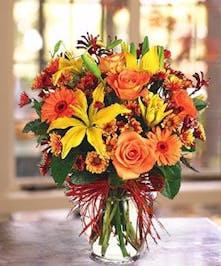 A beautiful vased arrangement