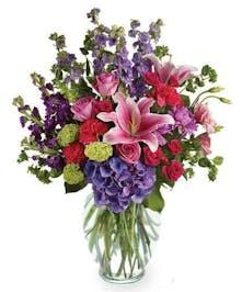 abundant and colorful bouquet