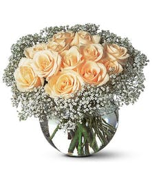 A sparkling design of roses
