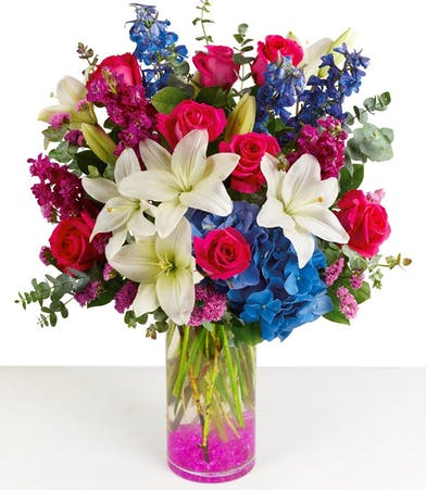 Magenta Magic Floral Bouquet - Same-day Flower Delivery
