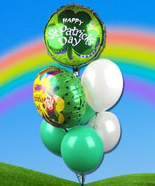 Celebrate the luck of the Irish with a fun balloon bouquet