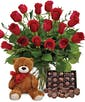 AS SHOWN (18 Roses) + bear + chocolates
