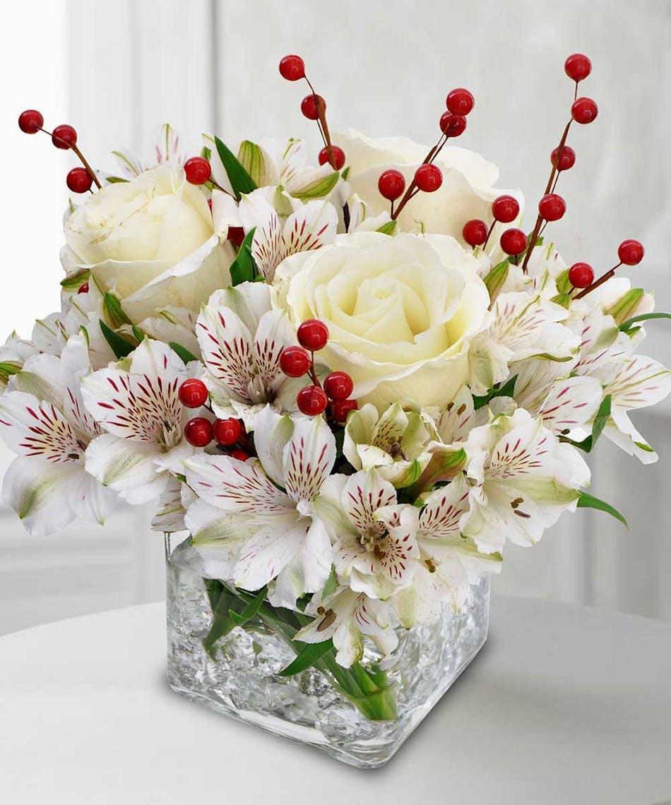 Winter White Flowers Trumbull Shelton Ct City Line