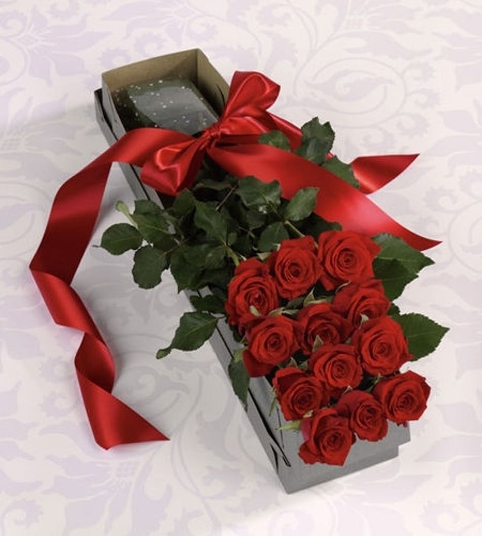 Boxed Roses Hand Delivered Available Same Day Flower Delivery To
