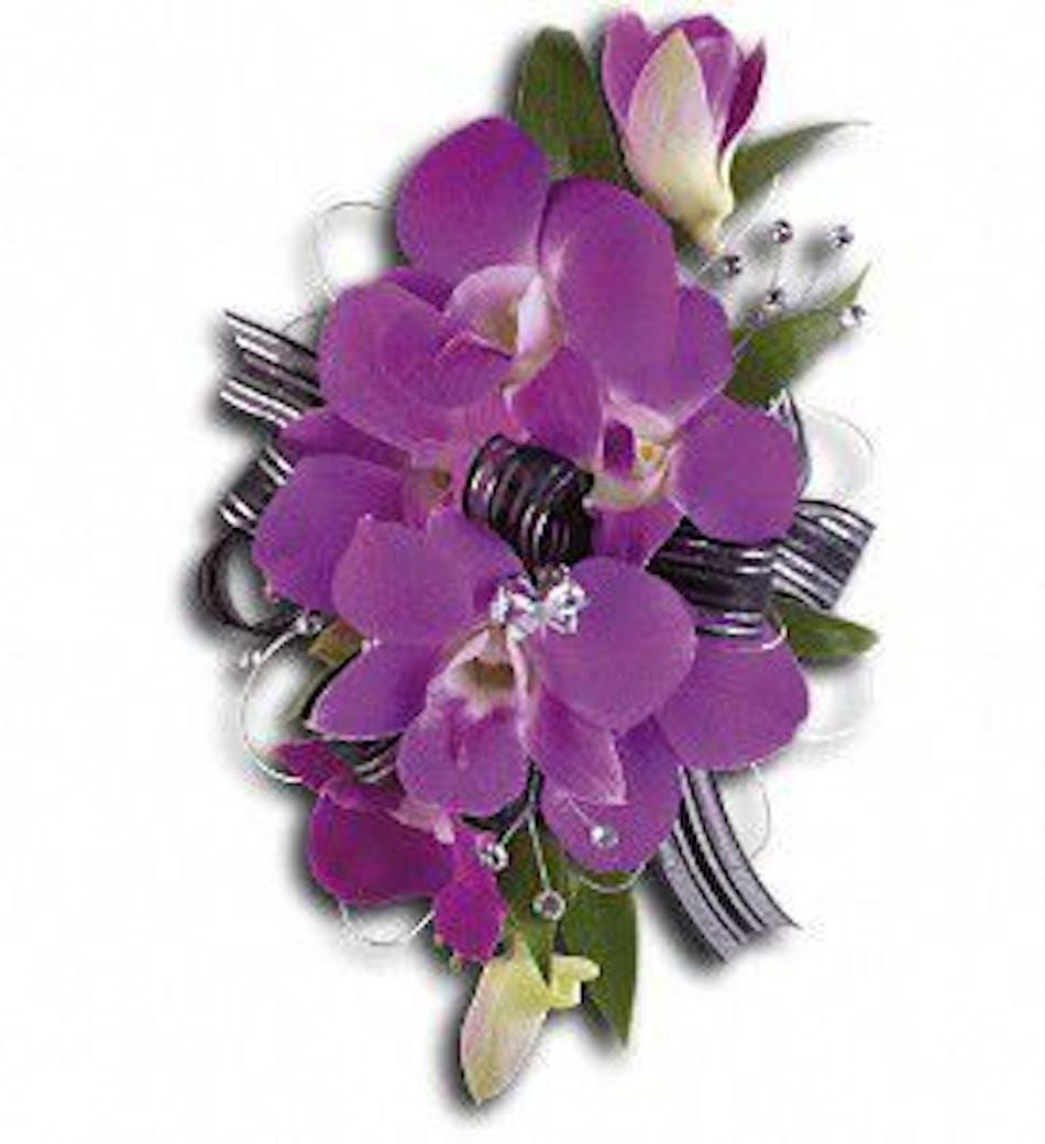Purple Promise Wristlet Prom Corsage Wristlet Boutonniere