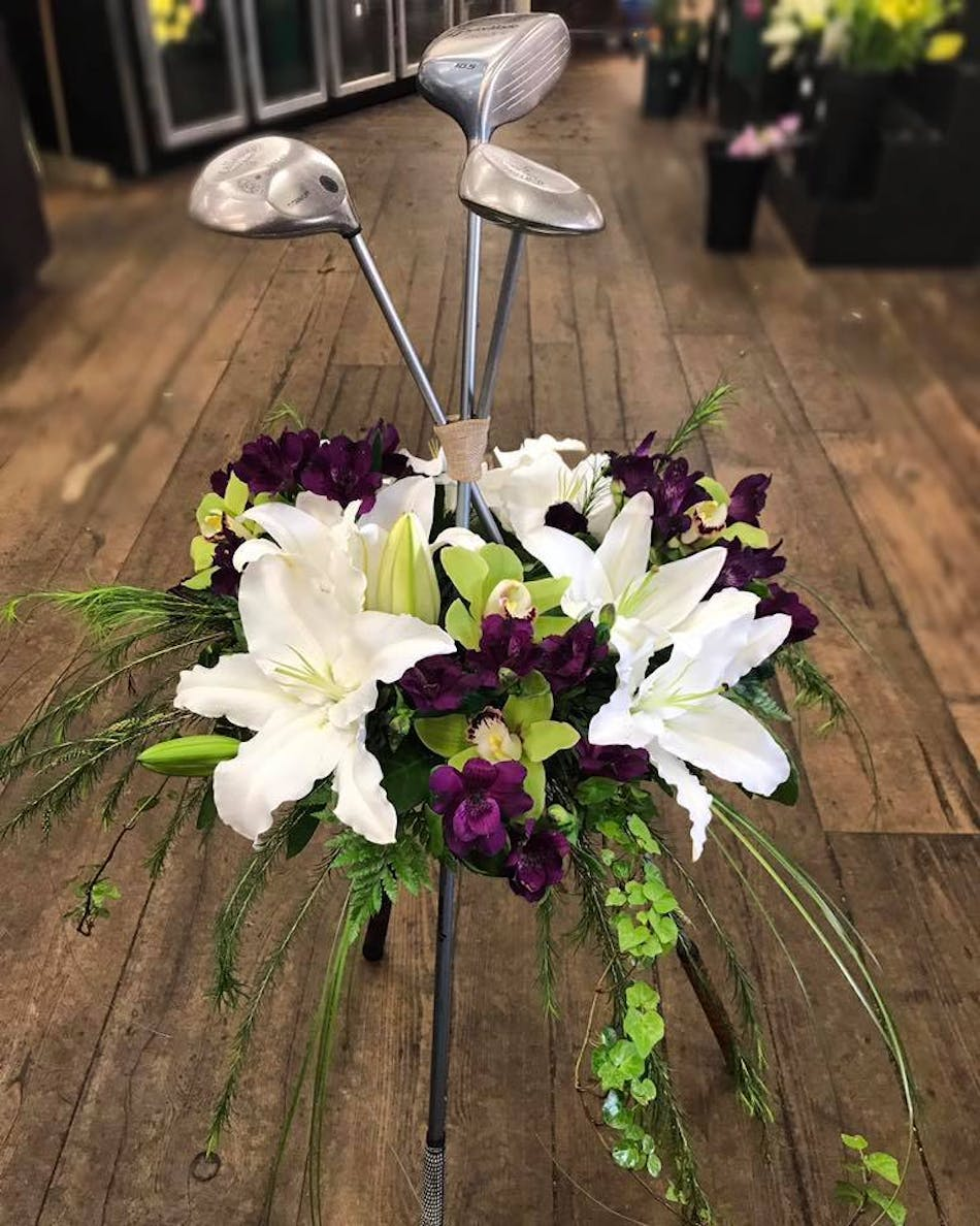 Golf Club Tribute Available Same Day Flower Delivery To Derby